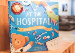 best food allergy kids books - at the hospital: a shine a light book