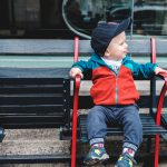 toddler visits Fenway Park, home of the Boston Red Sox
