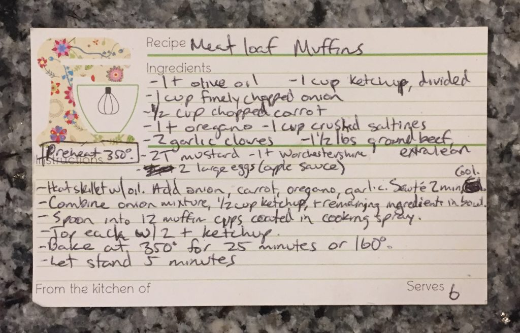allergy-friendly recipe for meatloaf muffins. part of our weekly meal plan