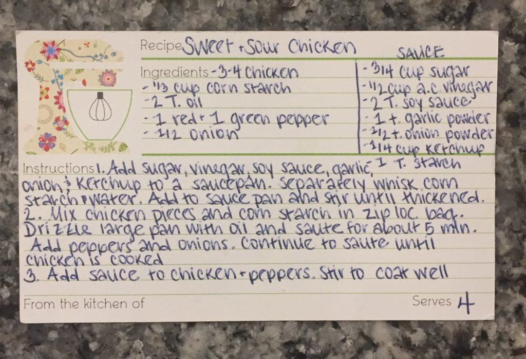 week 3 includes this recipe