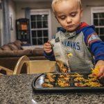 Ollie makes tortilla bites during week 3