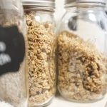 mason jars of allergy-friendly granola